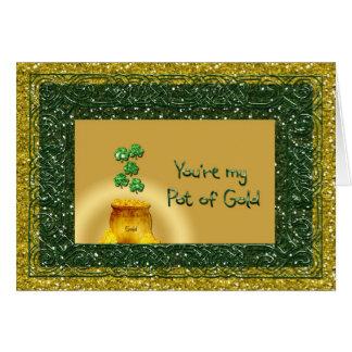 Mina de oro del día de St Patrick - romance del am Tarjeta De Felicitación