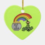 Mina de oro irlandesa ornamento para arbol de navidad