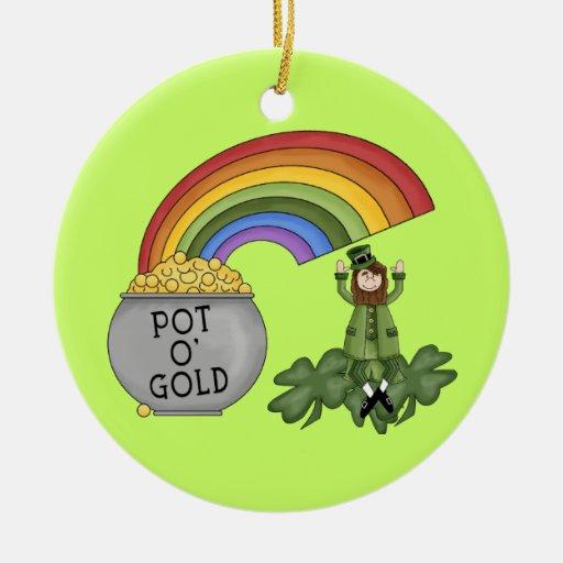 Mina de oro irlandesa ornamentos para reyes magos