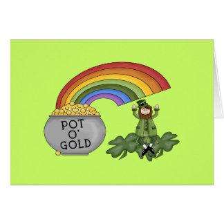 Mina de oro irlandesa tarjeta de felicitación