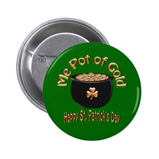 Mina de oro para el día de San Patricio Pins