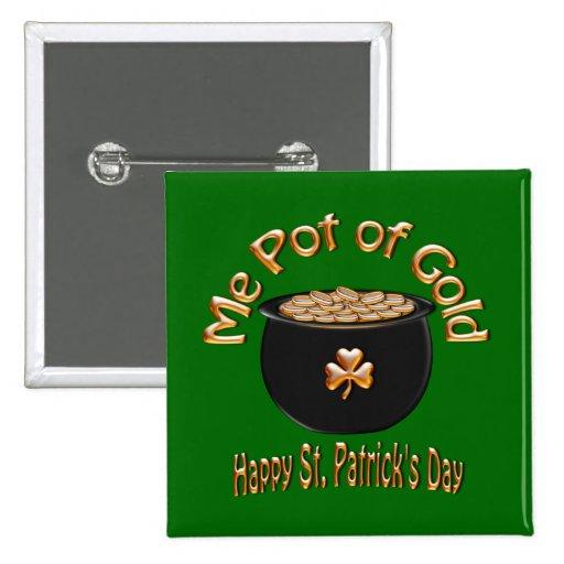 Mina de oro para el día de San Patricio Pin