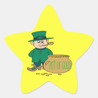 Mina de oro pegatina en forma de estrella