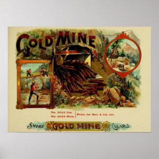 Mina de oro póster