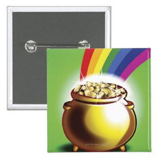 Mina de oro y arco iris pin