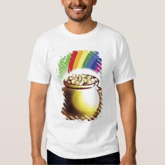 Mina de oro y arco iris playera