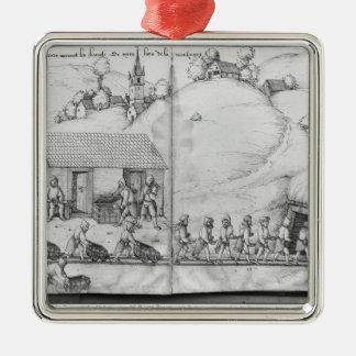 Mina de plata de las Croix-aux.-Minas del La, Adorno Cuadrado Plateado