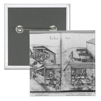 Mina de plata de las Croix-aux.-Minas del La, Lore Pin Cuadrada 5 Cm