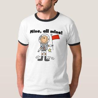 Mina del astronauta toda la camiseta del campanero remera