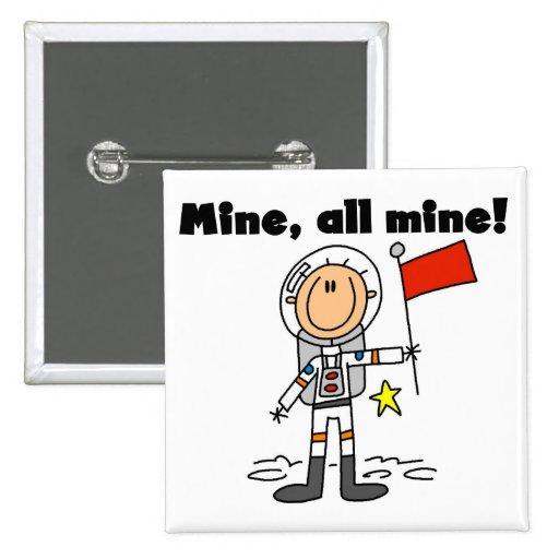 Mina del astronauta todas las camisetas y regalos  pin cuadrada 5 cm