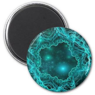 Mina del espacio profundo imán redondo 5 cm