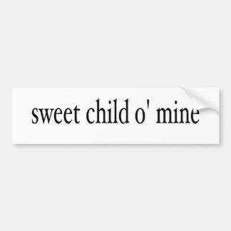 Mina dulce del niño O Pegatina De Parachoque