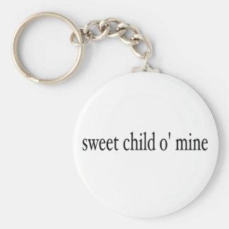 Mina dulce del niño O Llavero Personalizado