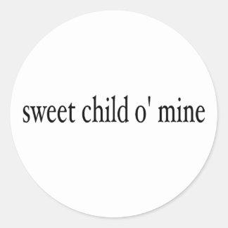Mina dulce del niño O Etiqueta Redonda