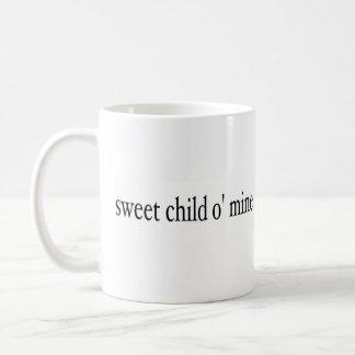 Mina dulce del niño O Taza Básica Blanca