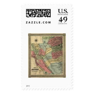 Mina en el mapa de California - 1851 Franqueo