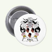 Mina Family Crest Button