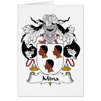 Mina Family Crest Card