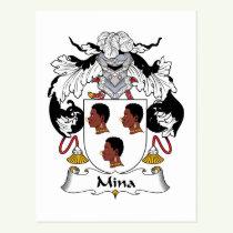 Mina Family Crest Postcard