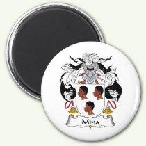 Mina Family Crest Magnet