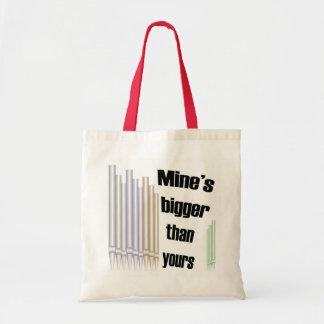 Mina más grande que la suya bolso del presupuesto bolsa tela barata