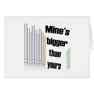 Mina más grande que la suya tarjeta en blanco