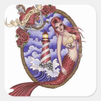 Mina - pegatina de la sirena del tatuaje