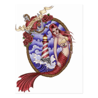 Mina - postal de la sirena del tatuaje