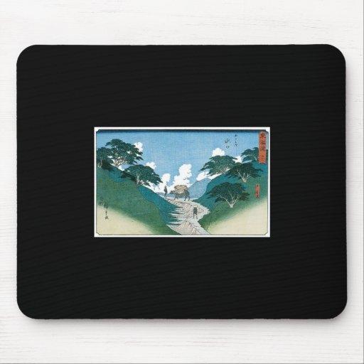 Minakuchi, los pinos hermosos, Japón C. 1851 Tapetes De Ratones
