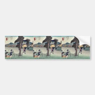 Minakuchi por Ando, Hiroshige Ukiyoe Pegatina Para Auto
