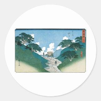 Minakuchi, The Beautiful Pines, Japan c. 1851 Sticker