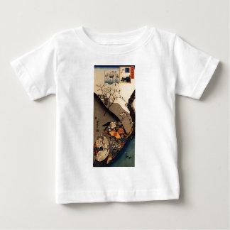 Minamoto Yoshiie at the Nakoso barrier by Utagawa Baby T-Shirt