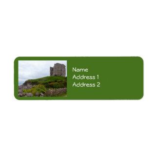 Minard Castle Ruins Label