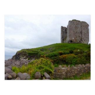 Minard Castle Ruins Postcard