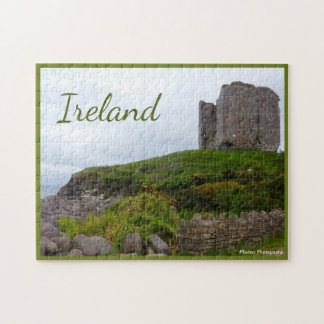 Minard Castle Ruins with text Jigsaw Puzzle