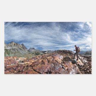 Minarets - Ansel Adams Wilderness - Sierra Nevada Rectangular Sticker