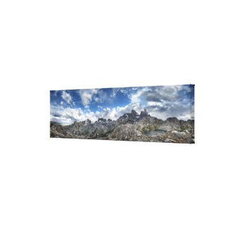 Minarets Panorama above Nydiver Lakes - Sierra Canvas Print