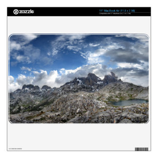Minarets Panorama above Nydiver Lakes - Sierra Decals For The MacBook