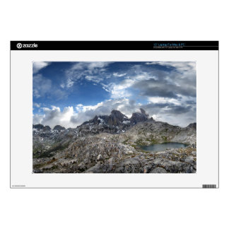 Minarets Panorama above Nydiver Lakes - Sierra Laptop Decals
