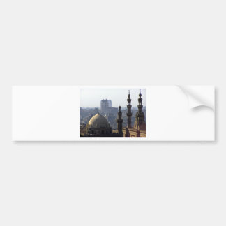 Minarets view of Sultan Ali mosque Cairo Bumper Sticker