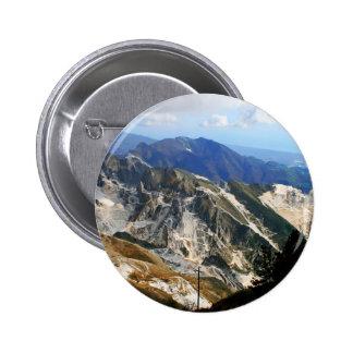 Minas de mármol blancas, Carrara - Italia Pin Redondo 5 Cm