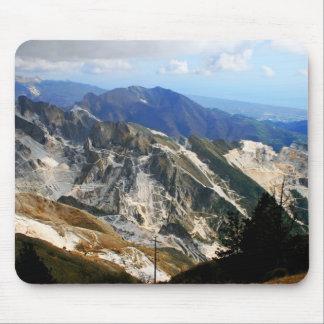 Minas de mármol blancas, Carrara - Italia Mouse Pad