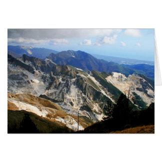 Minas de mármol blancas, Carrara - Italia Tarjeta De Felicitación