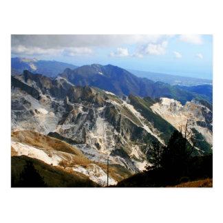 Minas de mármol blancas, Carrara - Italia Tarjeta Postal