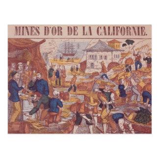 Minas de oro de California Tarjeta Postal