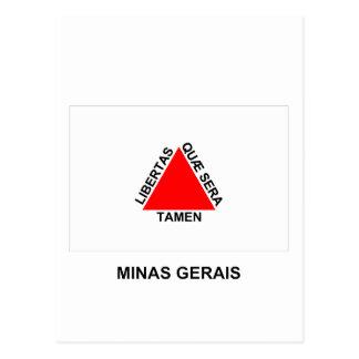 Minas Gerais, Brazil Flag Postcard