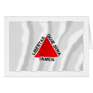 Minas Gerais, Brazil Waving Flag Card