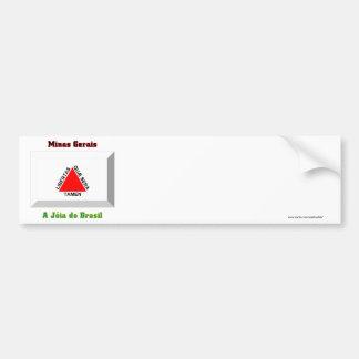 Minas Gerais Flag Gem Car Bumper Sticker