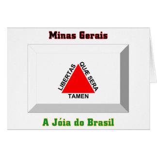 Minas Gerais Flag Gem Card