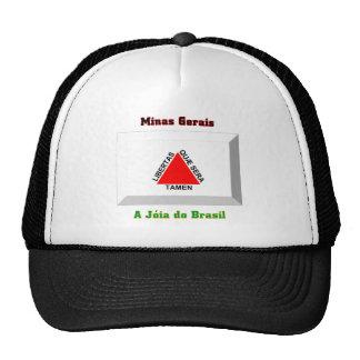 Minas Gerais Flag Gem Mesh Hats
